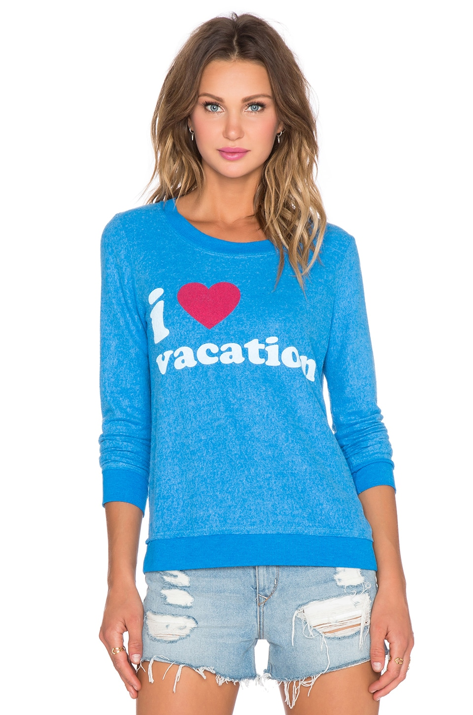 Chaser I Heart Vacation Tee in Pool