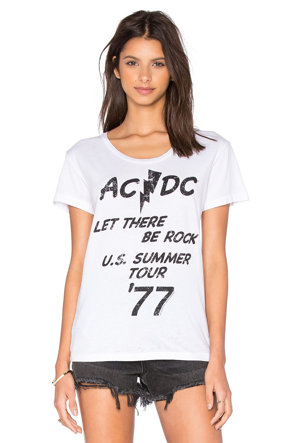Chaser ACDC Let There Be Rock Tee in White