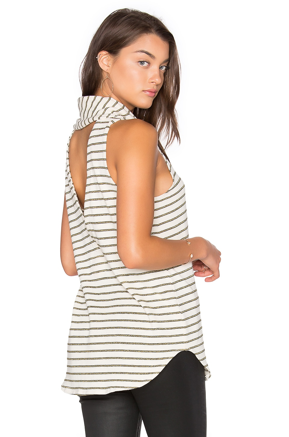 Cowl Neck Back Vent Tank by Chaser