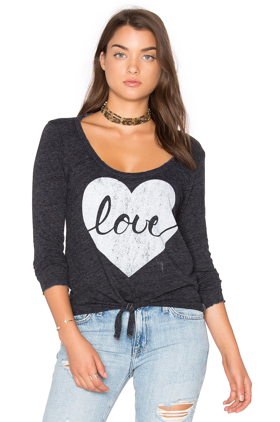 Chaser Heart Love Tee in Black