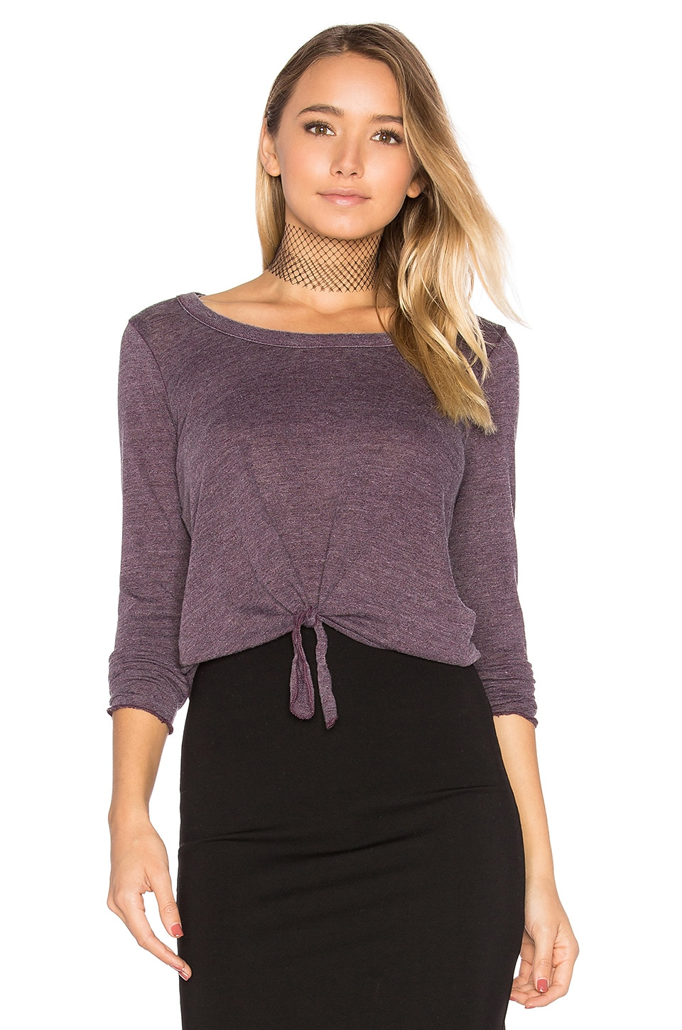 Tie Front Long Sleeve Tee by Chaser