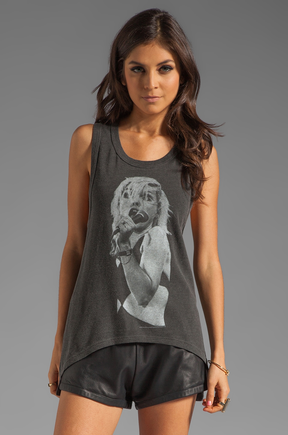 Chaser Blondie NYC Tank in Pigment Black