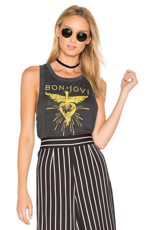417f3475c Chaser Bon Jovi Heart Dagger Tank in Black