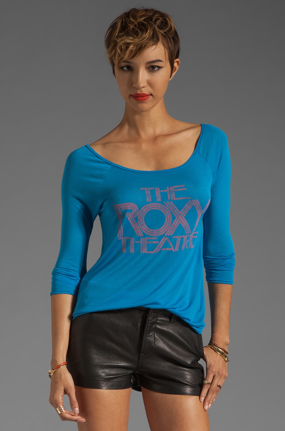 Chaser The Roxy Theatre Baseball Tee in Marine
