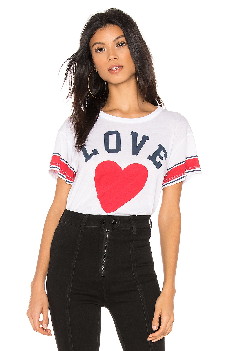Chaser Team Love Top in White
