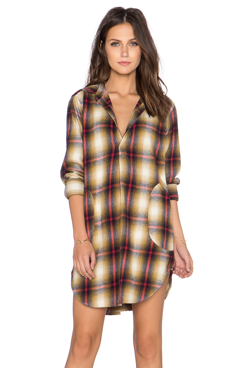 CP SHADES Teton Plaid Tunic in Wash
