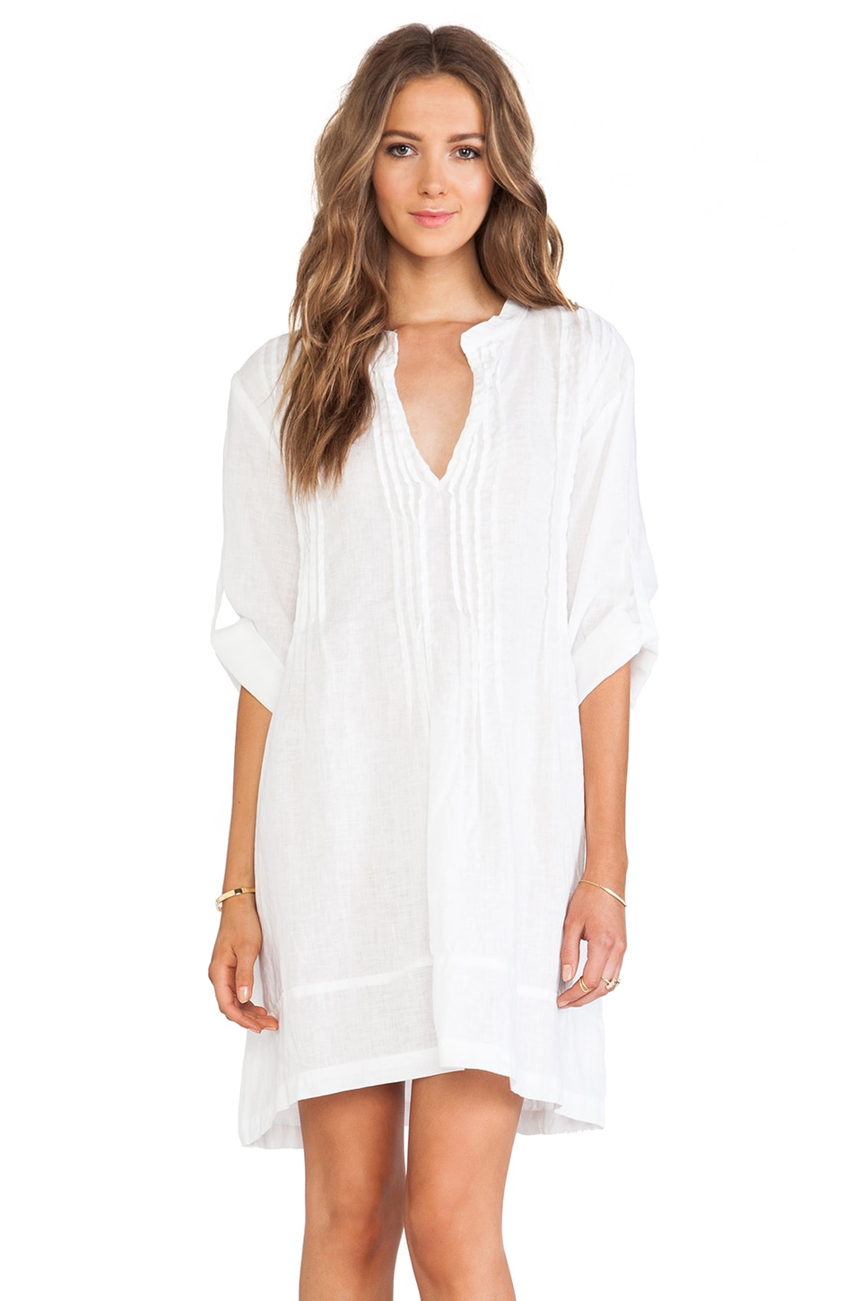 CP SHADES Regina Tunic Dress in White