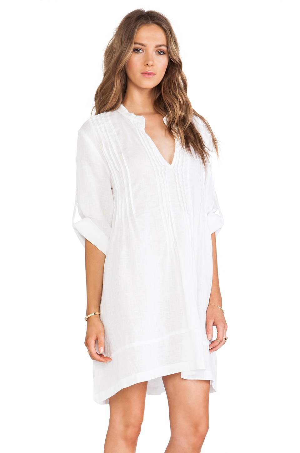 CP SHADES Regina Tunic Dress in White | REVOLVE