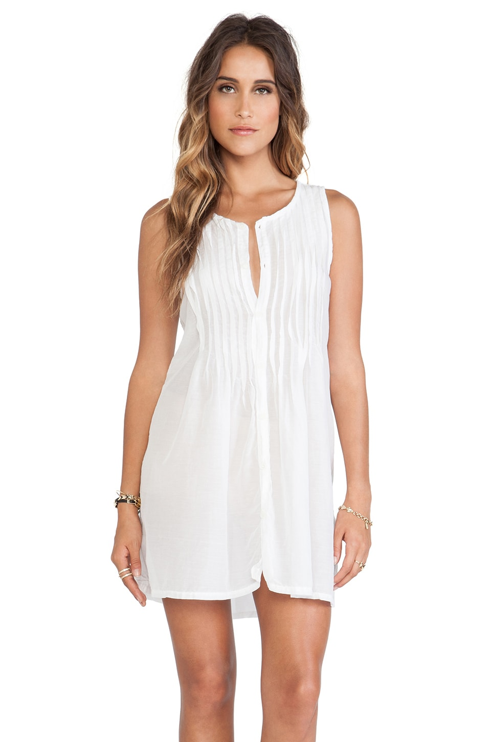 CP SHADES Lindsay Tunic Dress in White