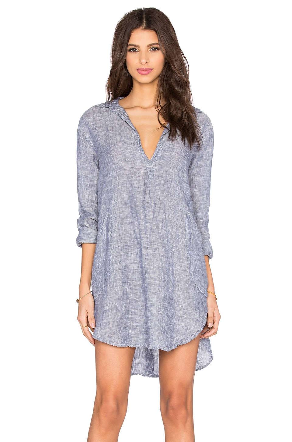 CP SHADES Teton Tunic Dress in Medium Blue