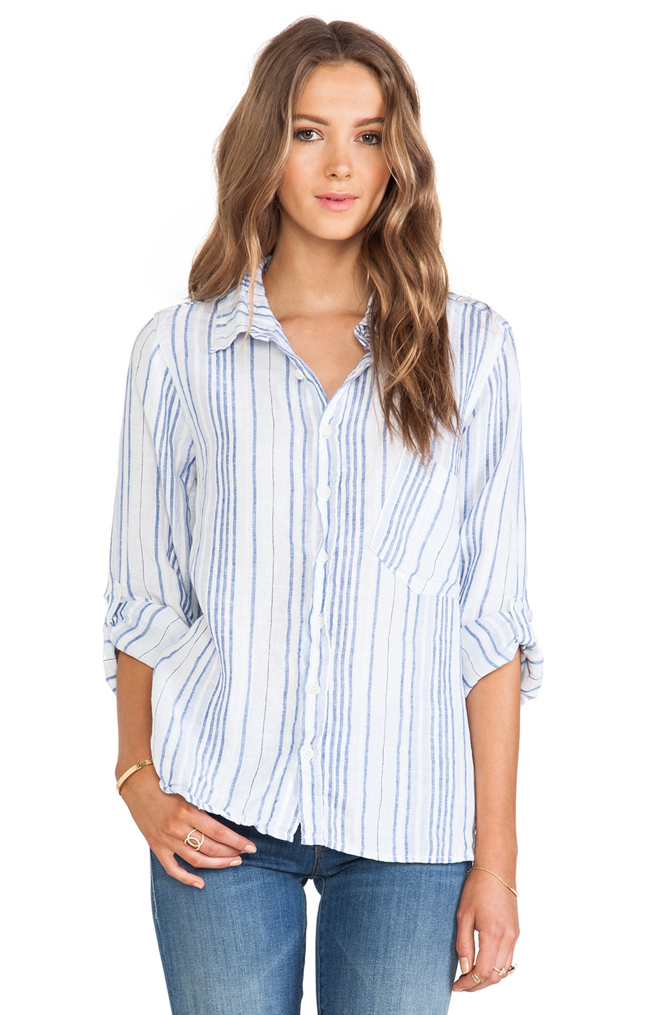 CP SHADES Jay Striped Shirt in Blue