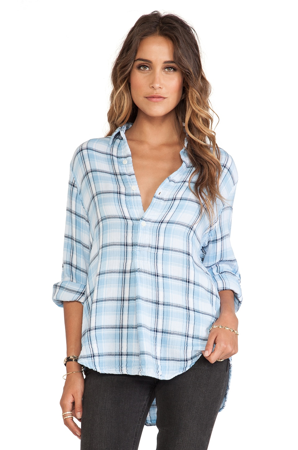 CP SHADES Tennessee Plaid Shirt in Light Blue