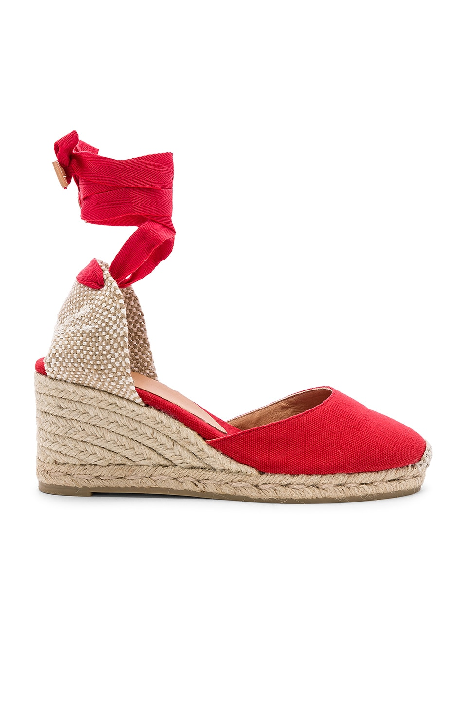 Castaner Carina Wedge in Rojo Rubi