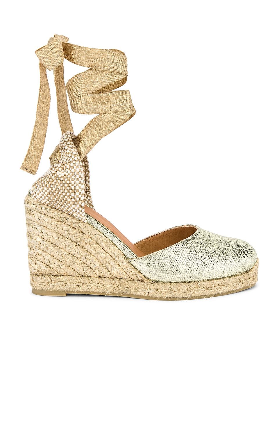 Castaner Carina Wedge in Oro