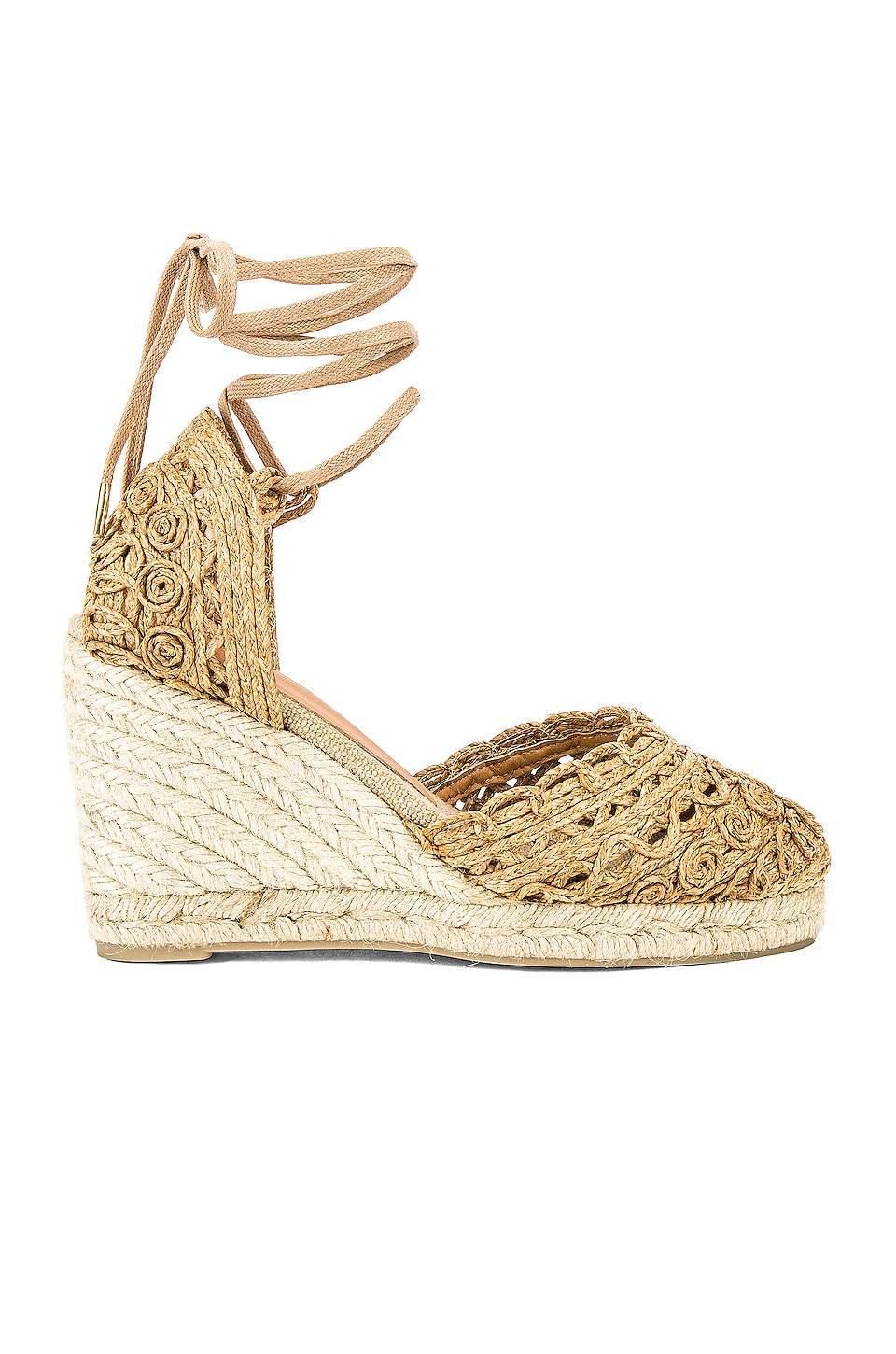 Castaner Carina Wedge in Tostado