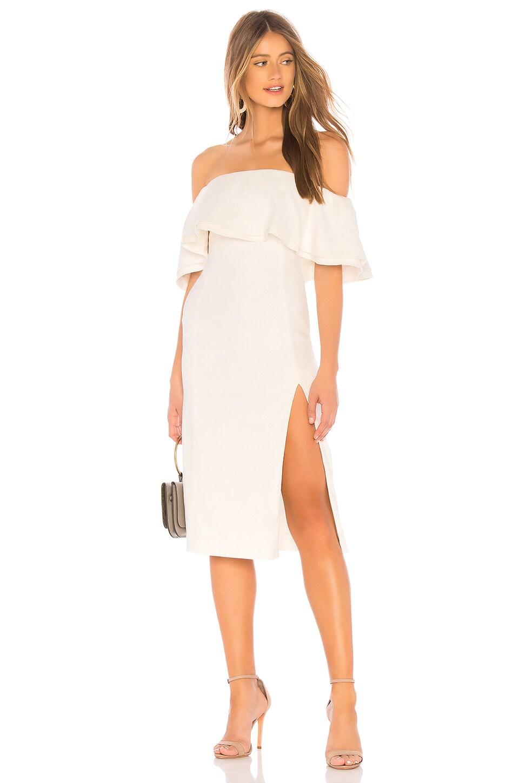 Chrissy Teigen x REVOLVE Dragontail Midi Dress in Ivory