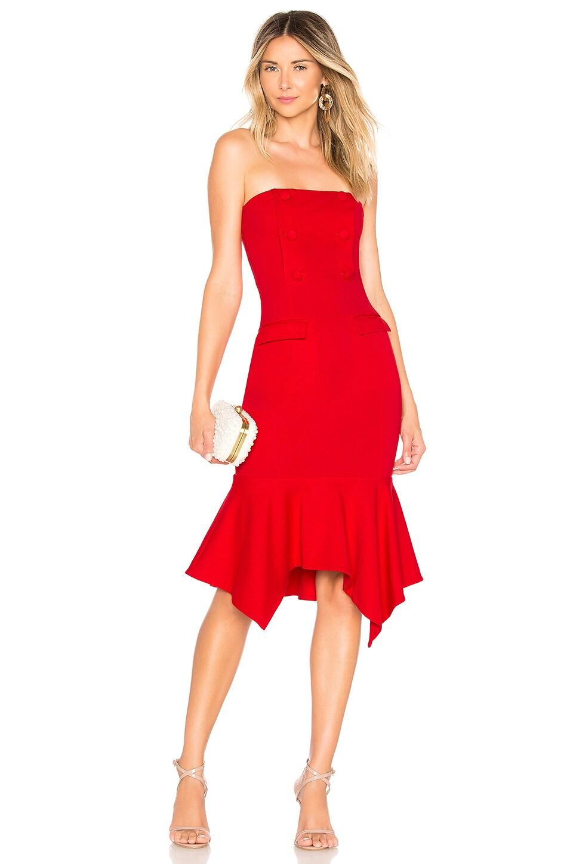 Chrissy Teigen x REVOLVE Landon Midi Dress in True Red