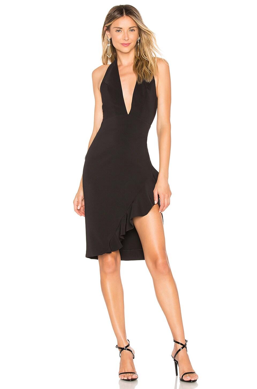 Chrissy Teigen x REVOLVE Phyllis Mini Dress in Black