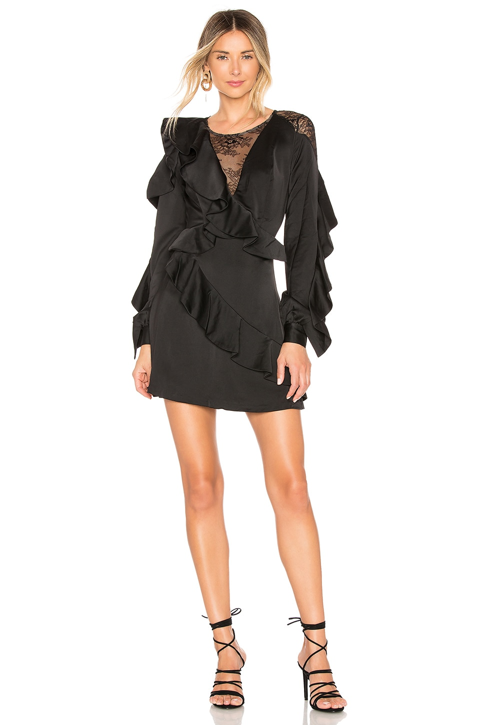CHRISSY TEIGEN X Revolve Parker Mini Dress in Black