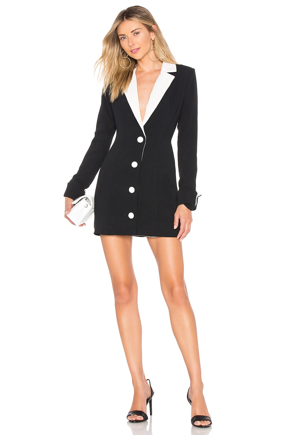 Chrissy Teigen x REVOLVE Camden Suit Dress in Black