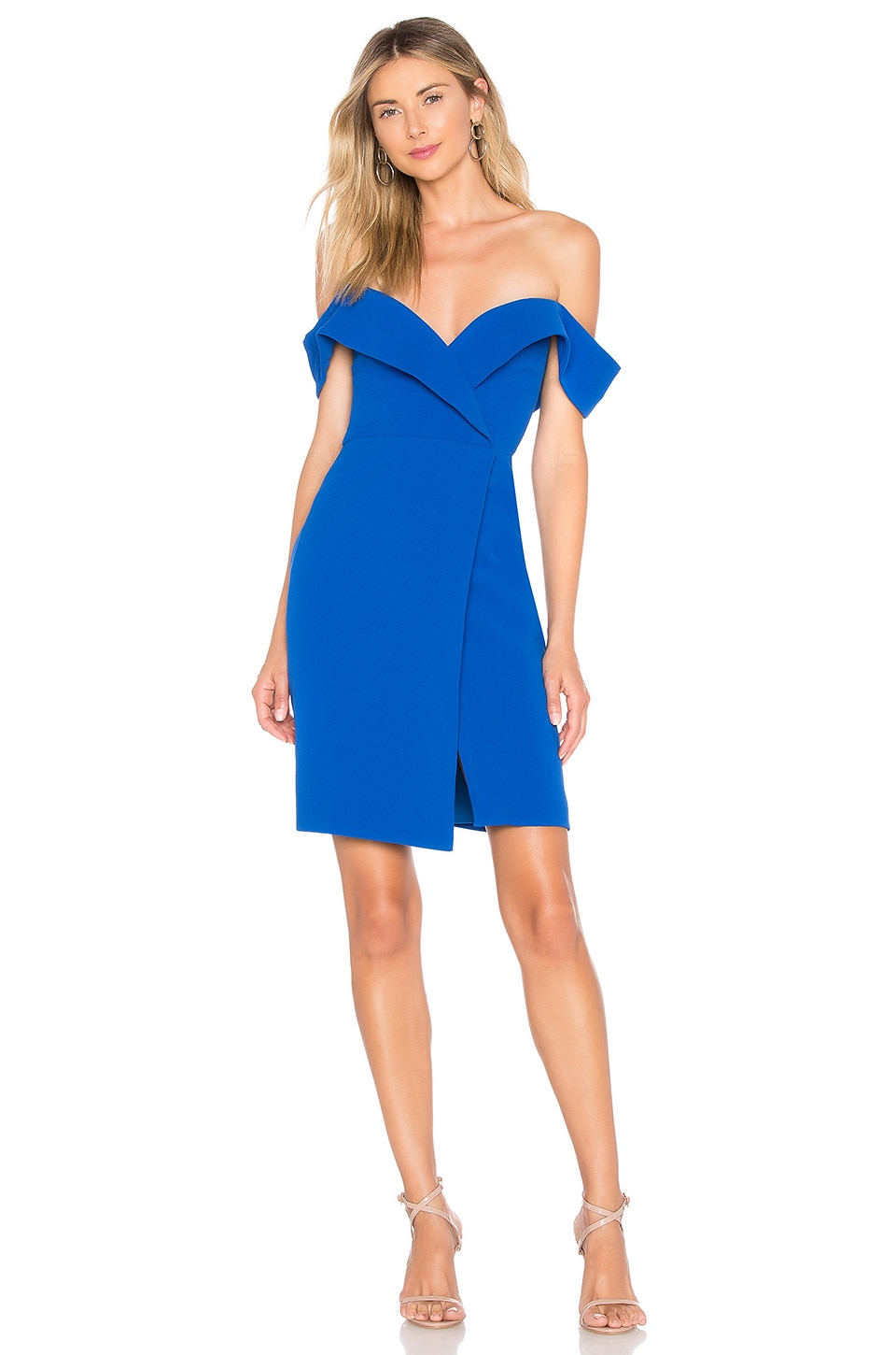 Chrissy Teigen x REVOLVE Thea Mini Dress in Cobalt Blue