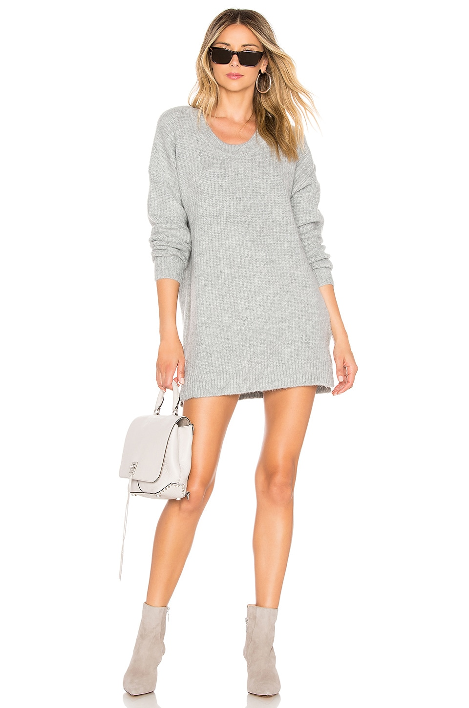 Chrissy Teigen x REVOLVE Logan Sweater in Grey Melange