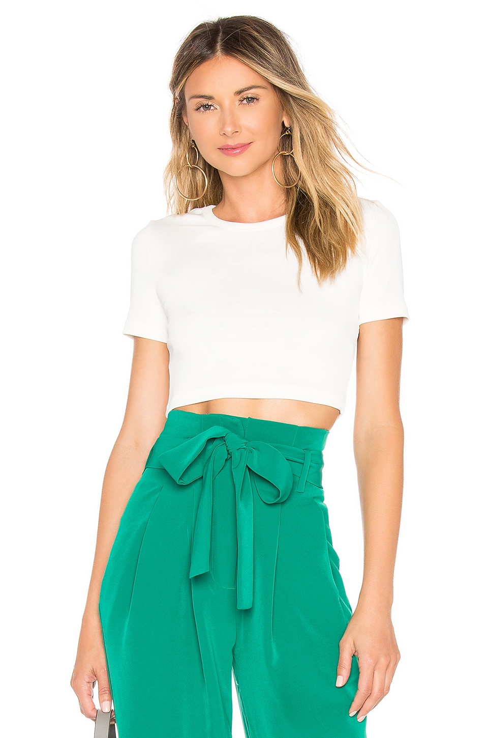 Chrissy Teigen x REVOLVE Ezra Cropped Top in White