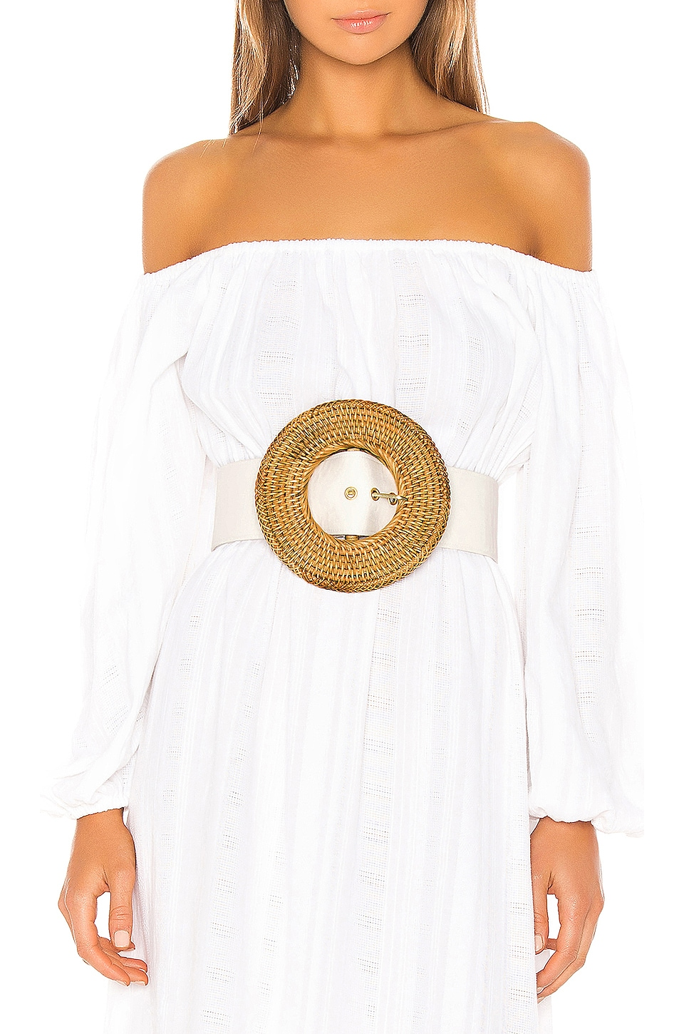 Cult Gaia Gemma Belt in White