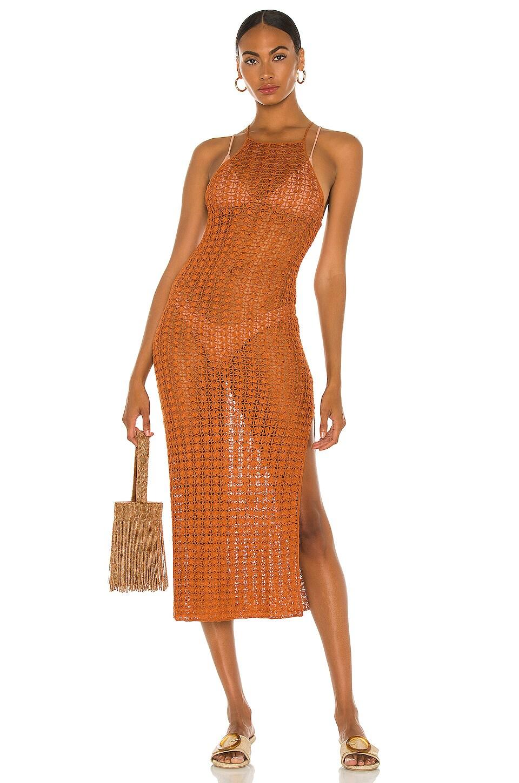 Cult Gaia Demi Knit Dress in Spice