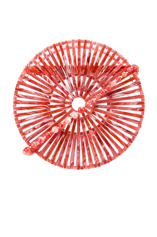 Cult Gaia Crossbody CULT GAIA ACRYLIC LUNA CROSSBODY IN RED.