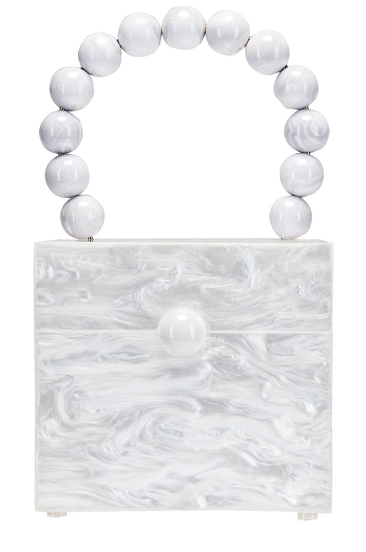 Cult Gaia Eos Box Bag in Pearl