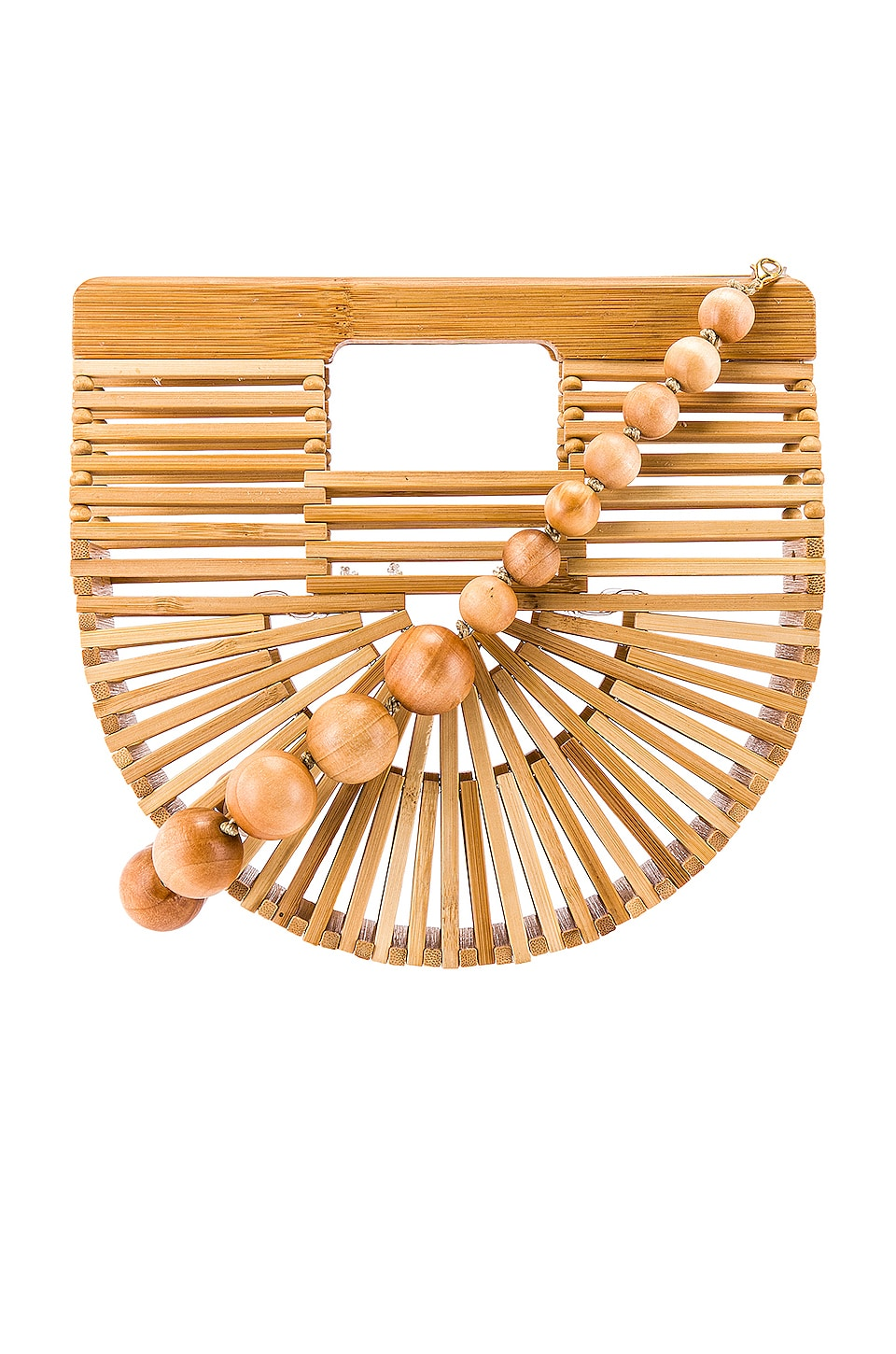 Cult Gaia Ark Micro Crossbody in Natural