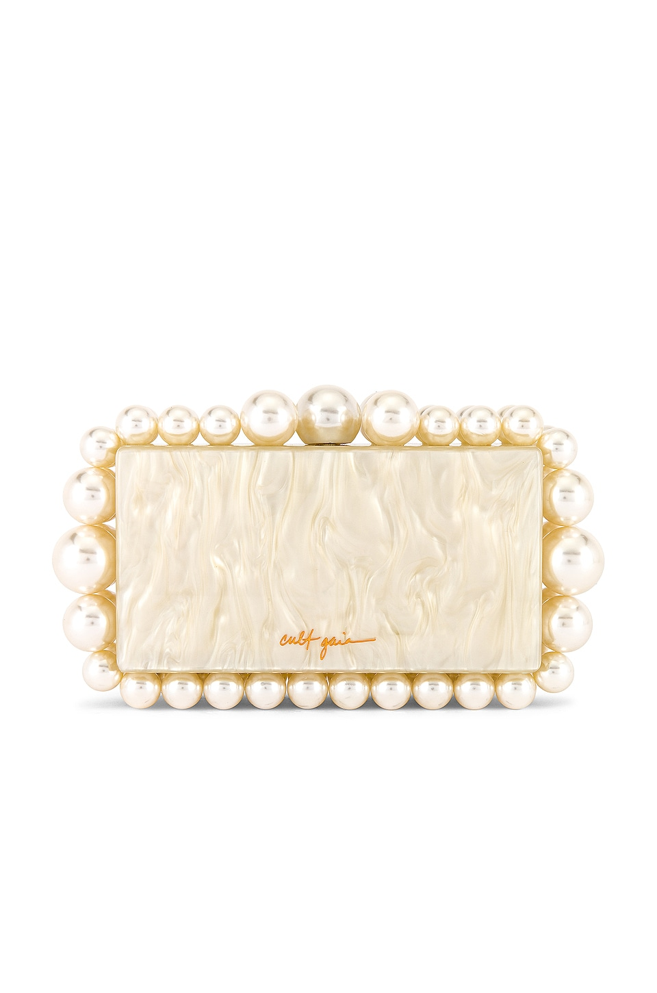 Cult Gaia Eos Box Clutch in Pearl
