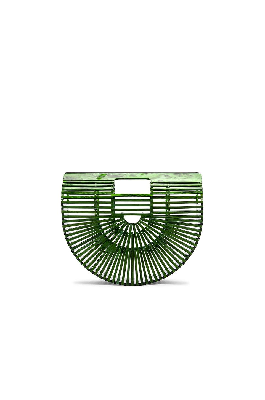 Cult Gaia Small Acrylic Ark Bag in Malachite