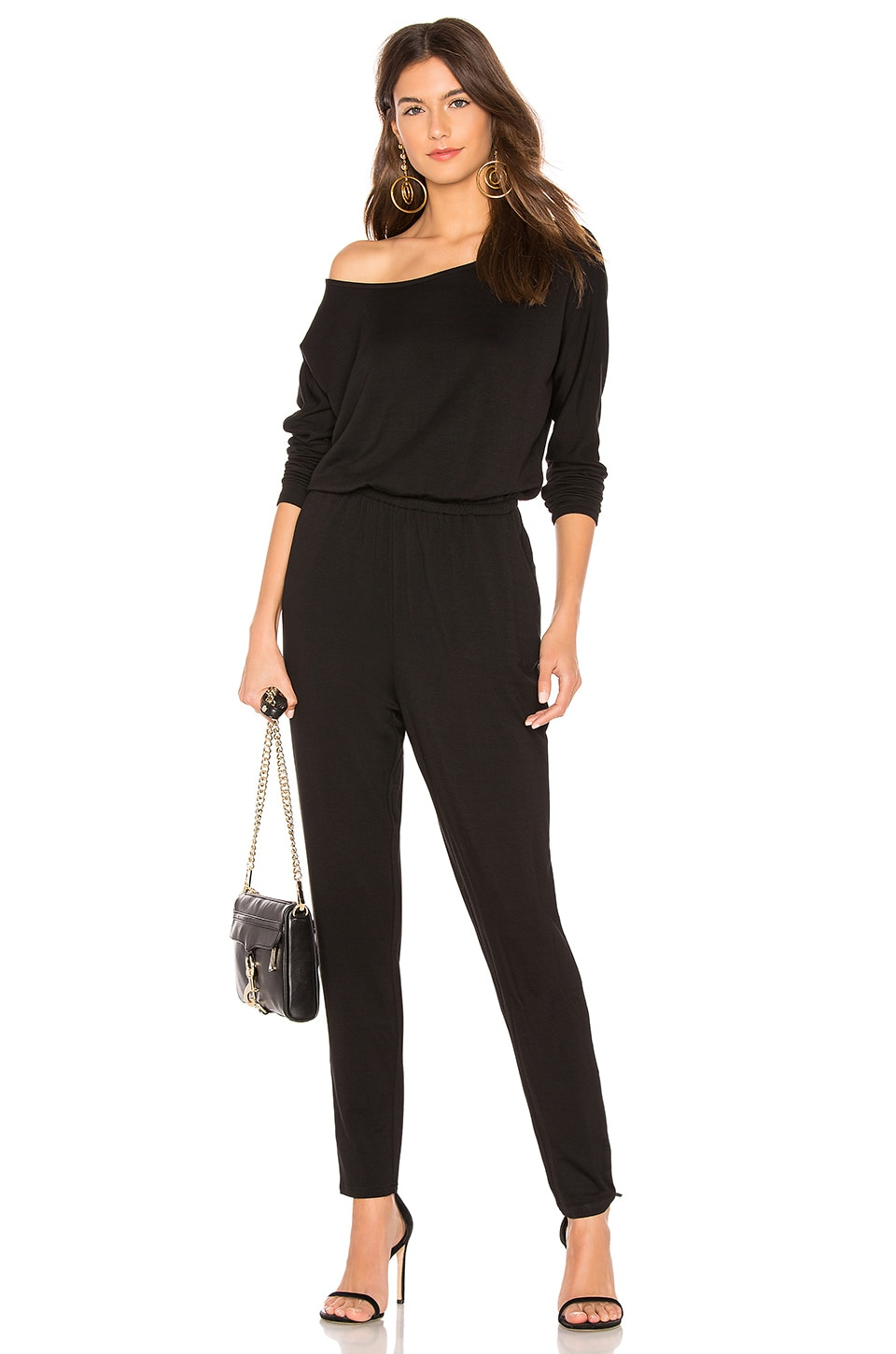 cupcakes and cashmere Carsen Jumpsuit in Black