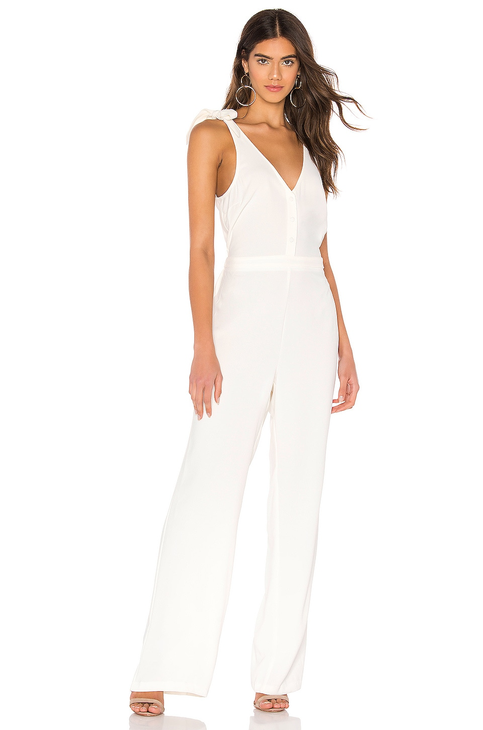 cupcakes and cashmere Topeka Jumpsuit in Ivory