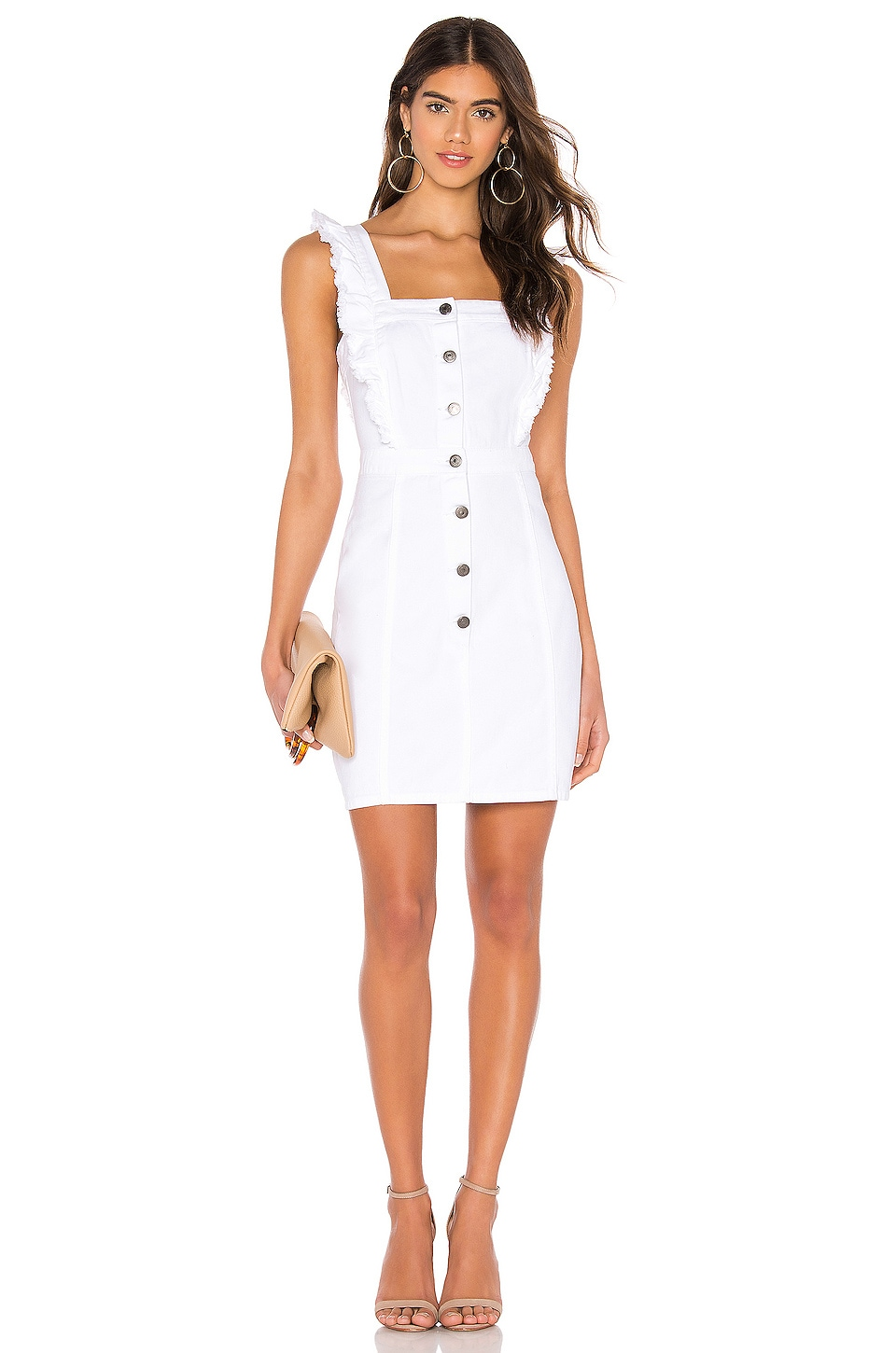 cupcakes and cashmere Galia Dress in White