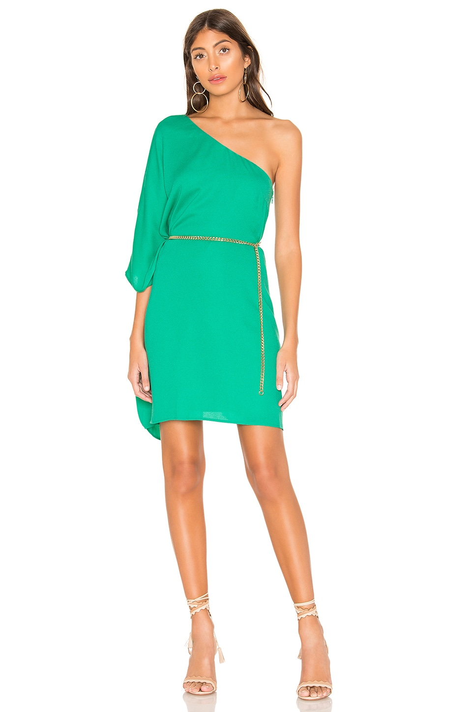 cupcakes and cashmere Deliz Dress in Leaf Green