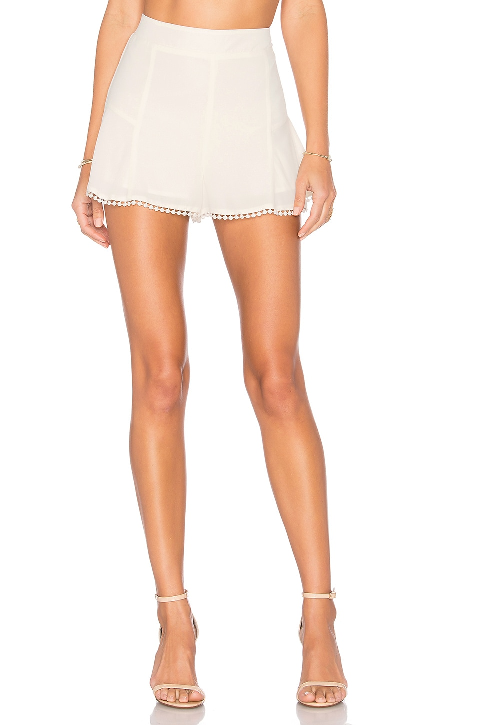 cupcakes and cashmere Francis Short in Ivory