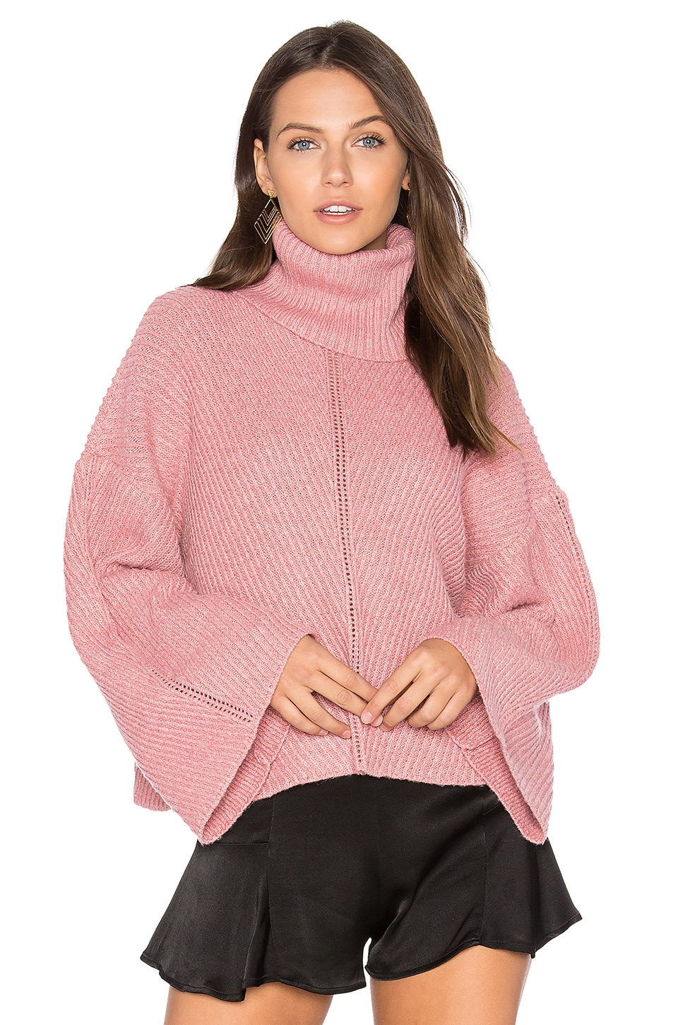 cupcakes and cashmere Phil Sweater in Dusty Rose