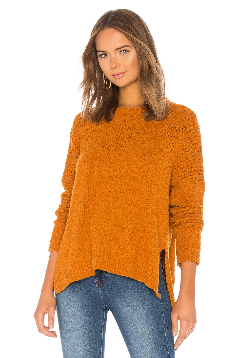 cupcakes and cashmere Kirk Sweater in Pumpkin Spice