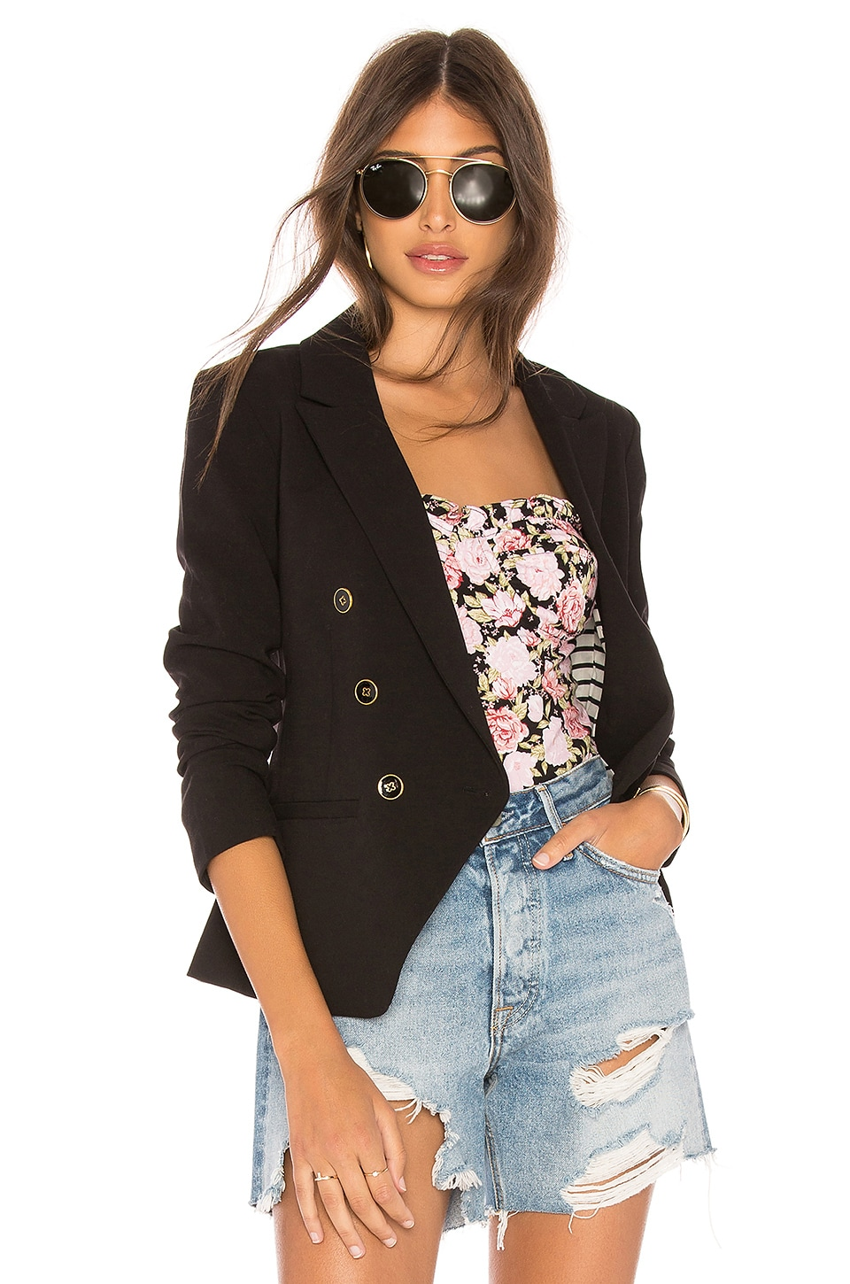 cupcakes and cashmere Elodie Blazer in Black