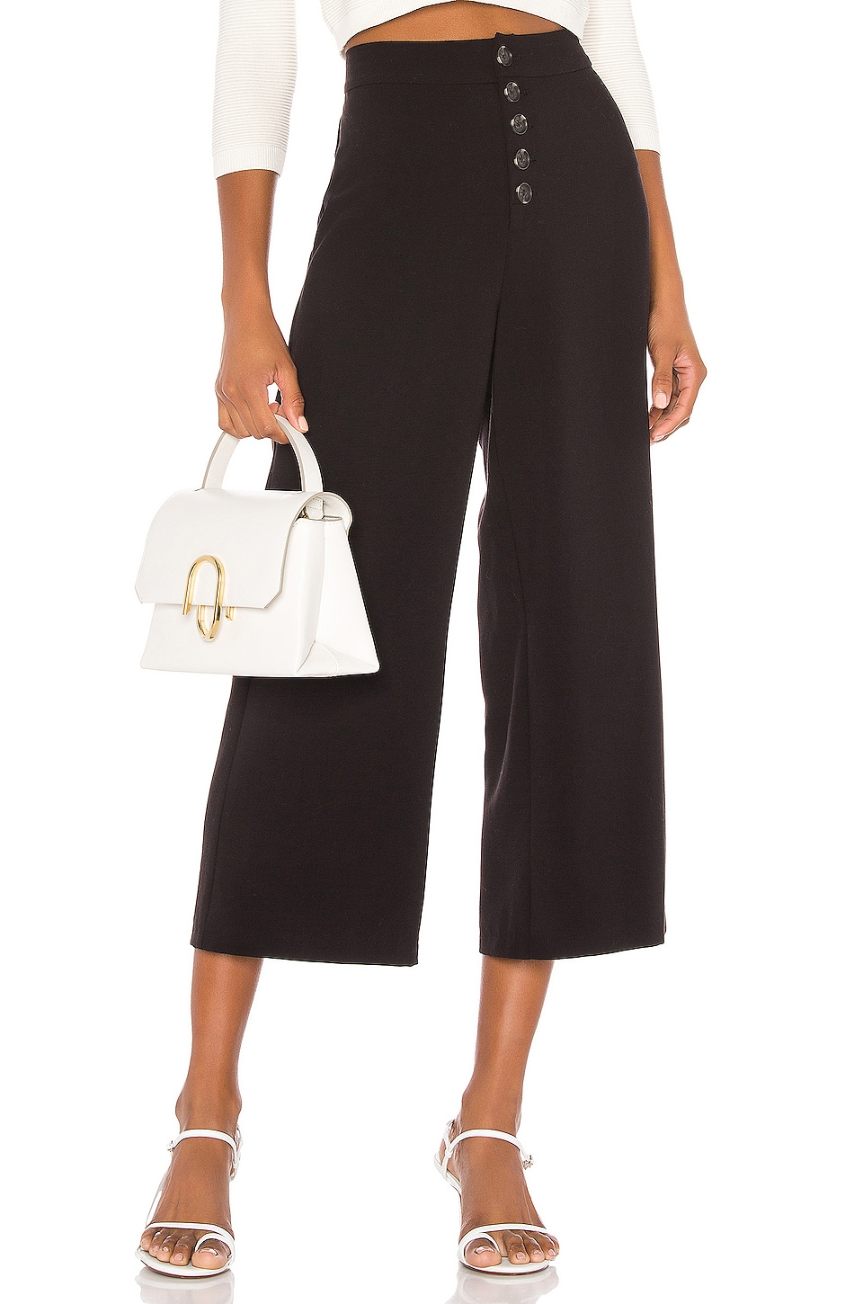 cupcakes and cashmere Riga High Waisted Suiting Culotte in Black