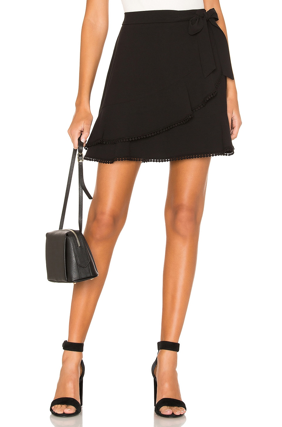 cupcakes and cashmere Zetta Skirt in Black