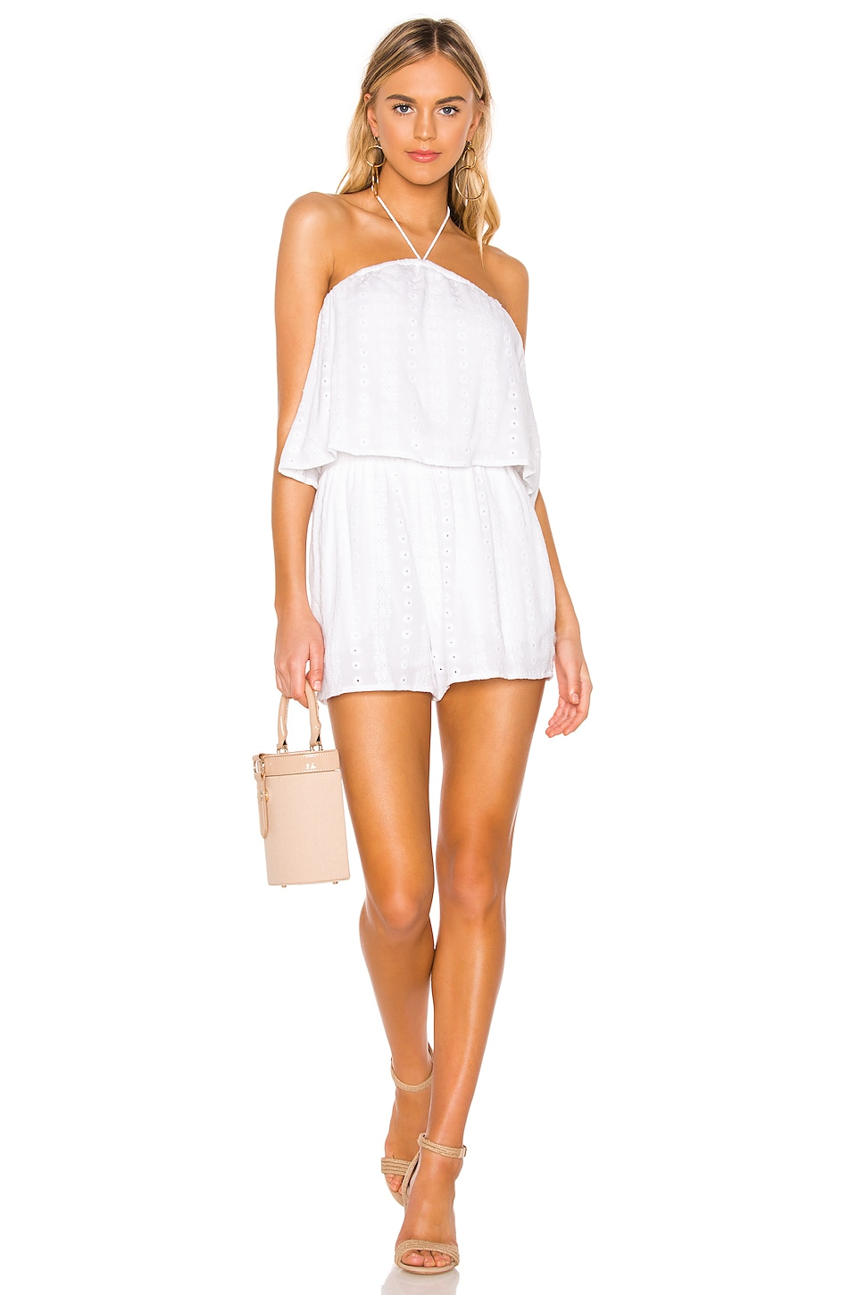 cupcakes and cashmere Malibu Romper in White