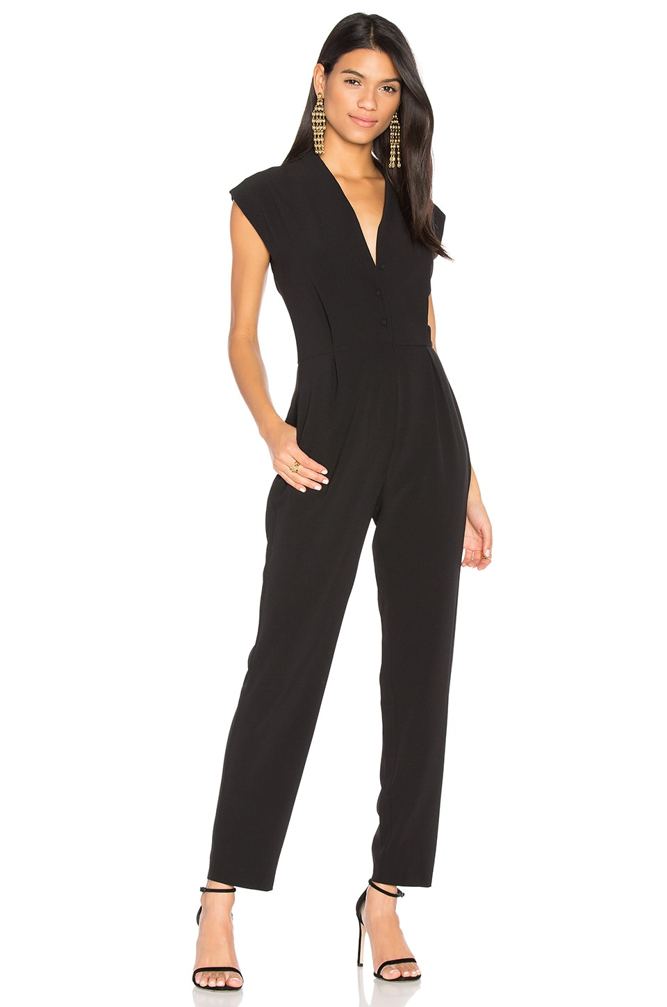 cupcakes and cashmere Hanna Jumpsuit in Black