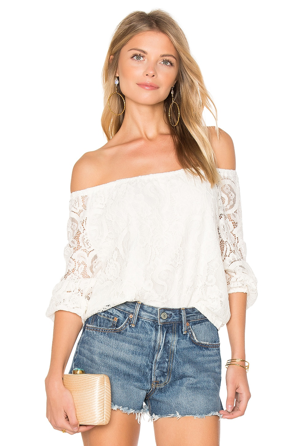 cupcakes and cashmere Karla Top in Ivory