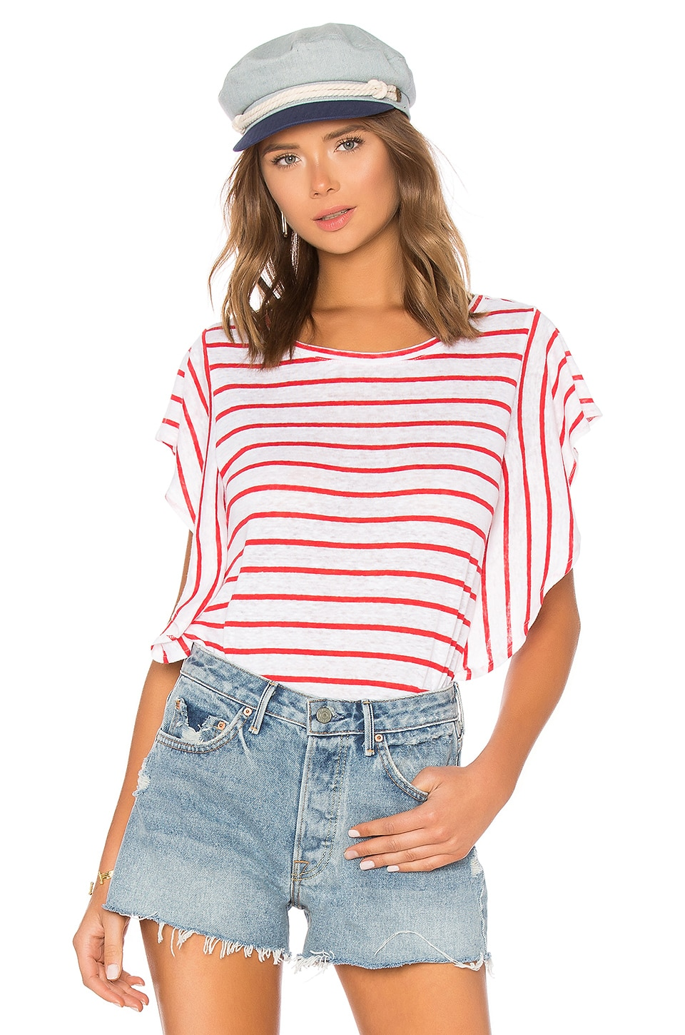 cupcakes and cashmere Cannon Top in Poppy Red | REVOLVE