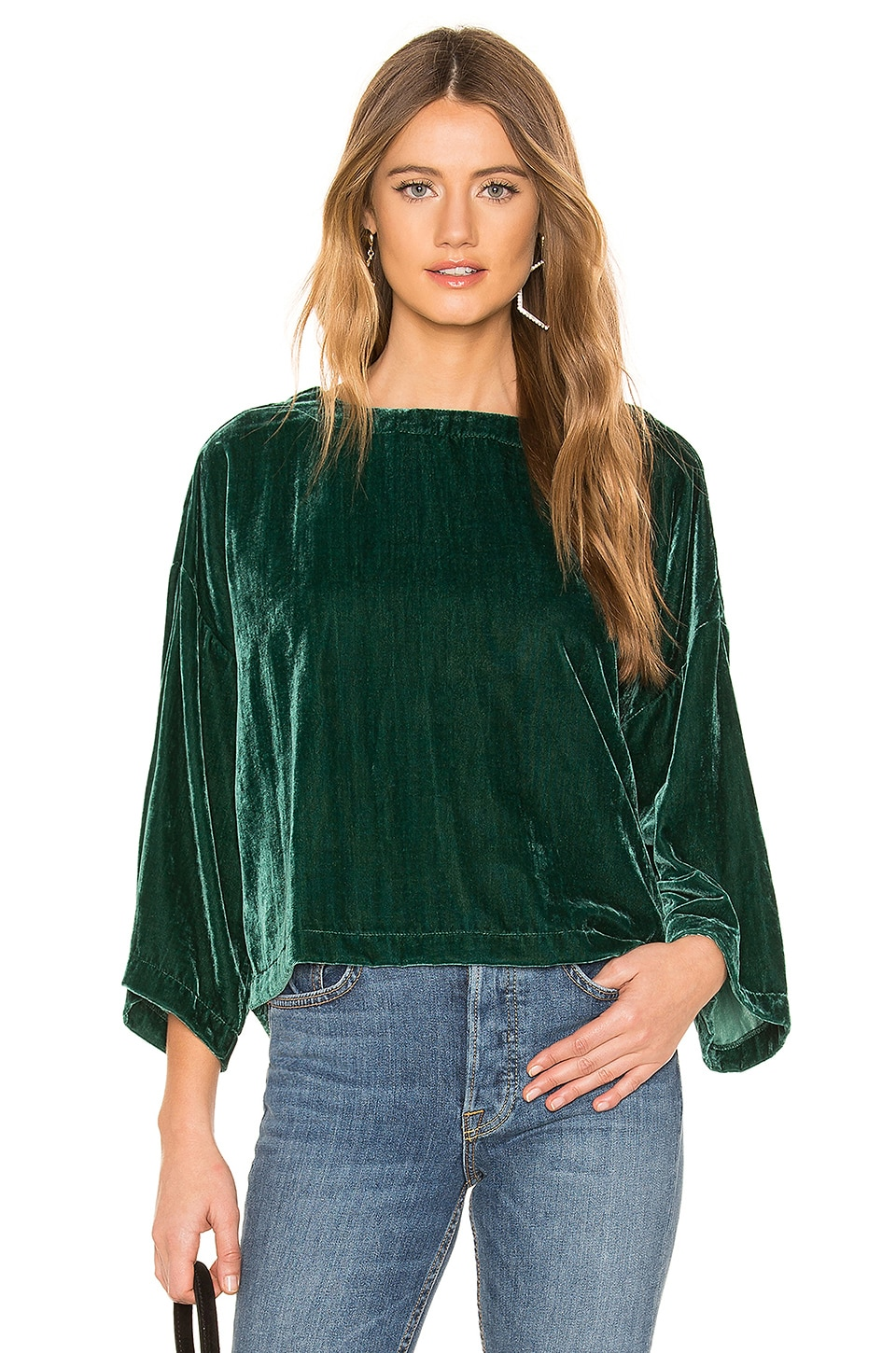 cupcakes and cashmere Christel Top in Winter Ivy
