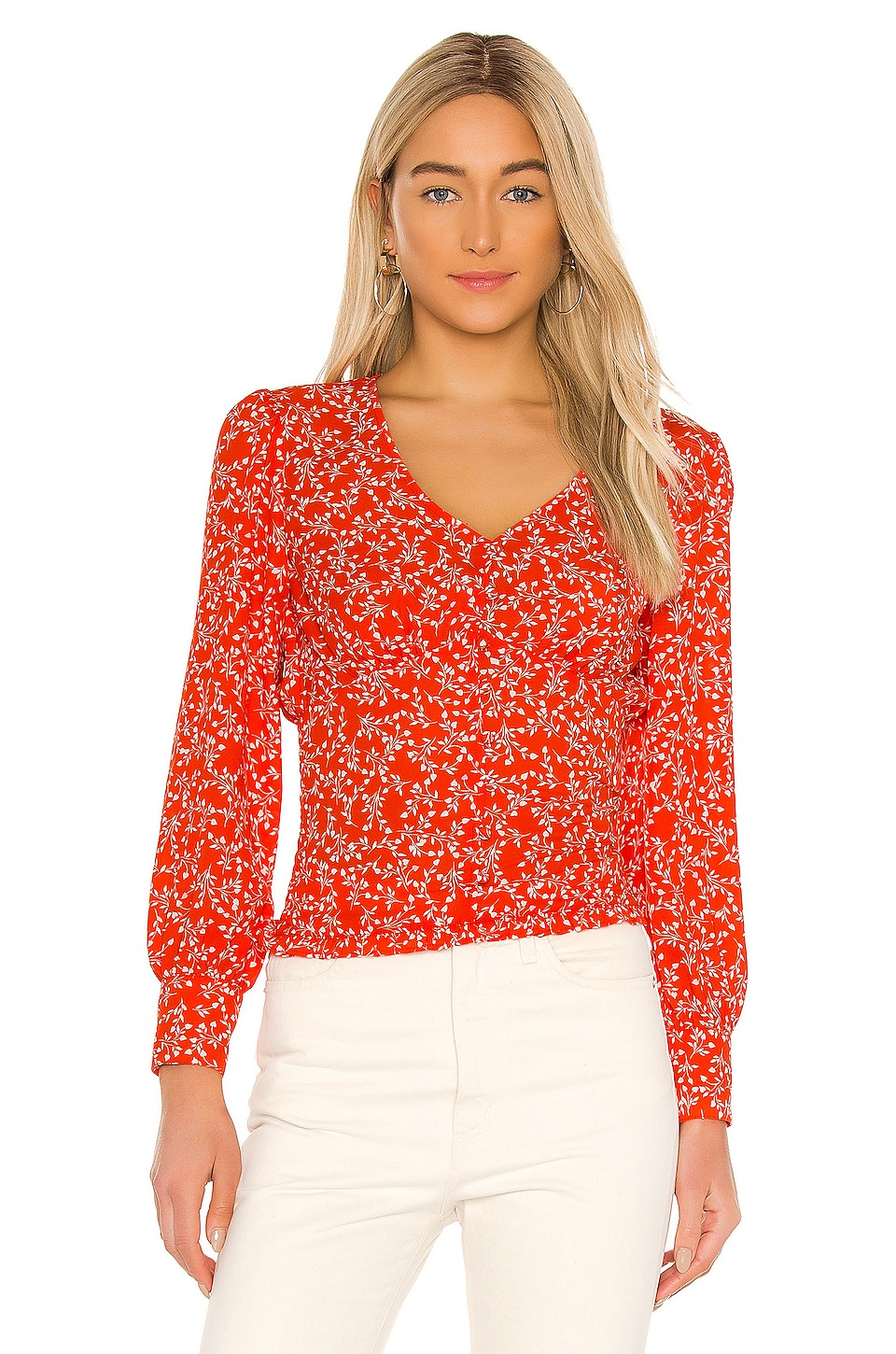 cupcakes and cashmere Portia Blouse in Red Hots